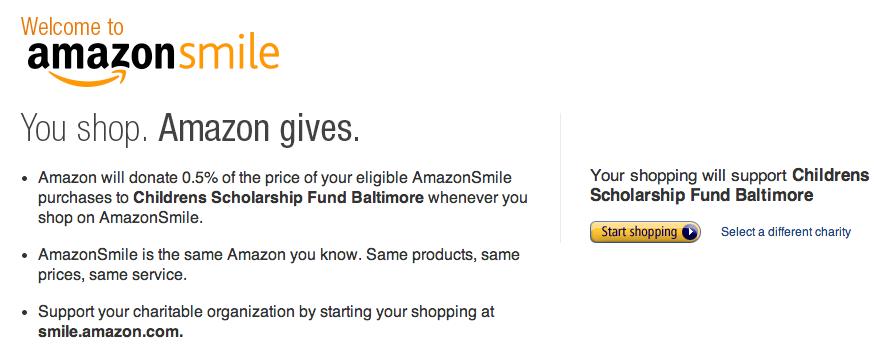 amazon smile csfb donation